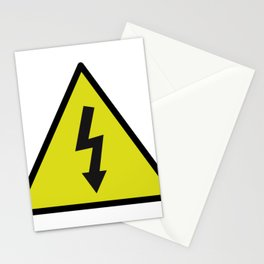 electric current danger signal Stationery Cards