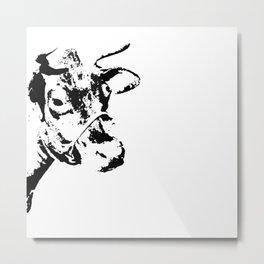Follow the Herd - Black #229 Metal Print