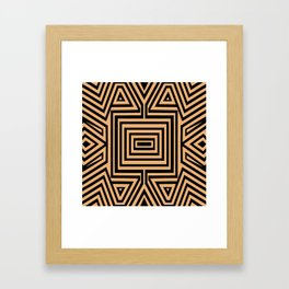 African Geometric Tribal Pattern 2 Framed Art Print