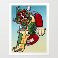 Boba the Bountyhunter Art Print