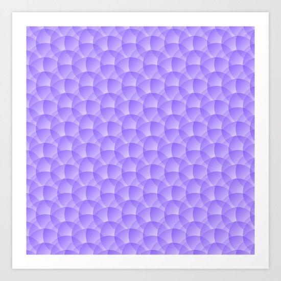 Purple Pattern Art Print