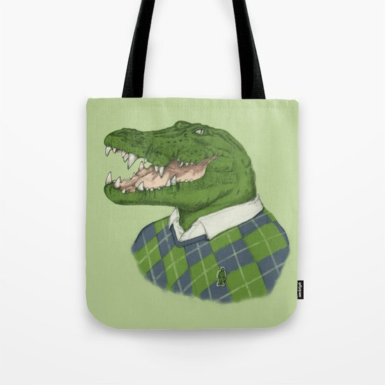 Argyle Crocodile Tote Bag