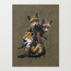 Little fox background Canvas Print