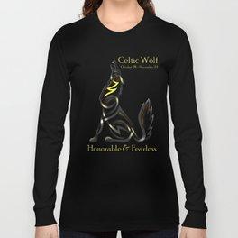 Celtic Zodiac Wolf Long Sleeve T-shirt