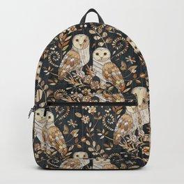 Wooden Wonderland Barn Owl Collage Backpack