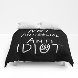NOT Anti-Social Anti-Idiot - Dark BG Comforters