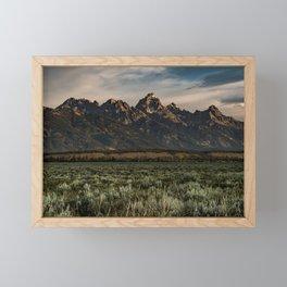 Teton Morning Framed Mini Art Print