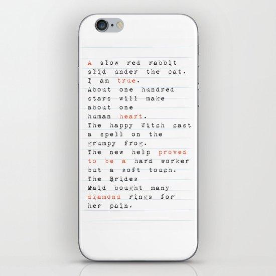 a true heart iPhone & iPod Skin