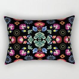 Fiesta Folk Black #society6 #folk Rectangular Pillow