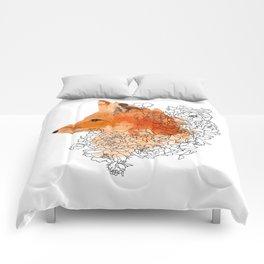 Watercolor Fox Comforters