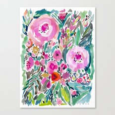 Pink Pow Wow Floral Canvas Print