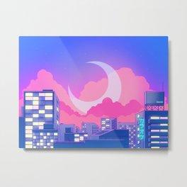 Dreamy Moon Nights Metal Print