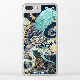 Metallic Octopus II Clear iPhone Case