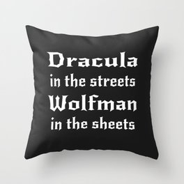 Dracula in the Streets Throw Pillow