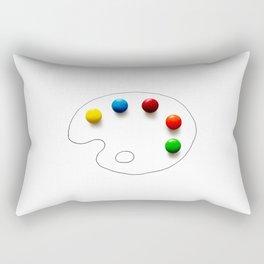 Artist's chocolate Rectangular Pillow