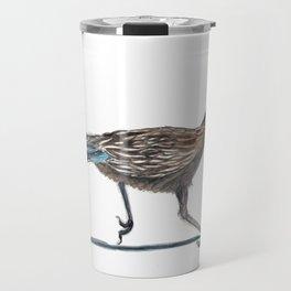 Watercolor Birds: Greater Roadrunner Travel Mug
