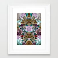 crystal Framed Art Prints featuring Crystal by Joanna Tadger