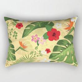 Tropical Flower Background 2 Rectangular Pillow
