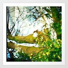 Left Leaves of Change Art Print