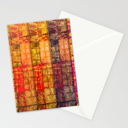 no. 235 pink orange brown red yellow gold pattern Stationery Cards