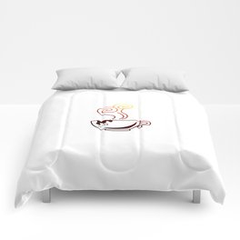 Coffee mug cafe gift Comforters
