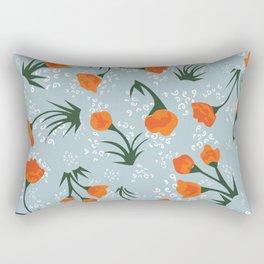 tiny orange floral print Rectangular Pillow
