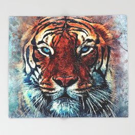 Tiger spirit Throw Blanket
