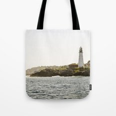 Lighthouse in Portland, Maine. Tote Bag