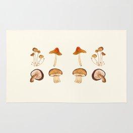 mushroom watercolor painting Rug