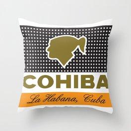 COHIBA CIGARS Throw Pillow