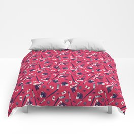 Tools of a Hockey Player Comforters