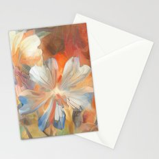 Abstract Wild Geraiums Stationery Cards