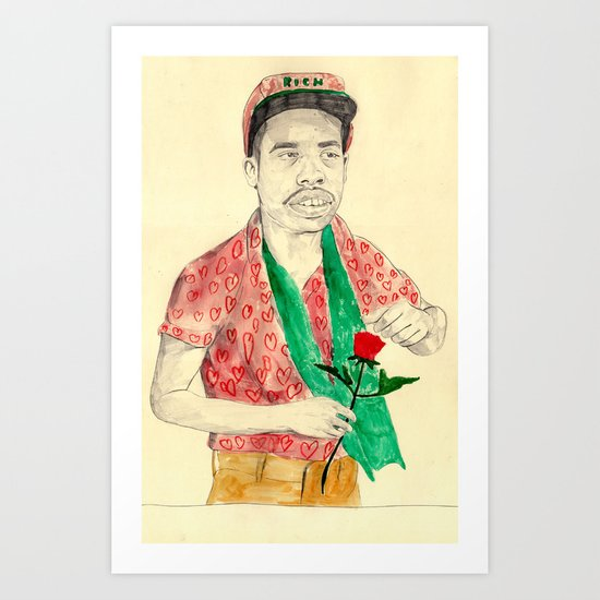 Earl Sweatshirt with a rose Art Print