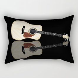 Pale Acoustic Guitar Reflection Rectangular Pillow