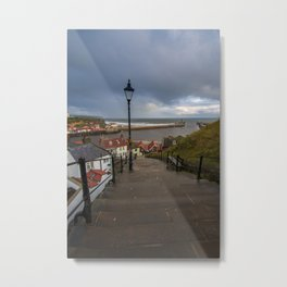 WHITBY, ENGLAND 199 STEPS, THE HOME OF DRACULAR Metal Print