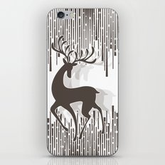 Dancing Deer - Black & White iPhone & iPod Skin