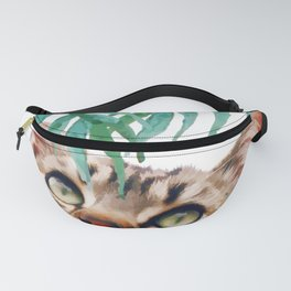 Leaf and cat Fanny Pack