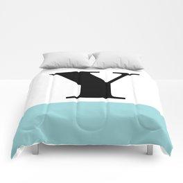 Monogram Letter Y-Pantone-Limpet Shell Comforters