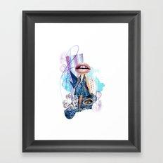 Zebra Kiss Framed Art Print