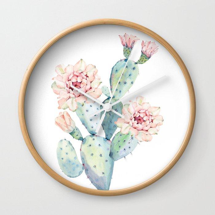 The Prettiest Cactus Wall Clock