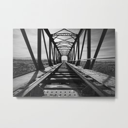 Abandoned railway bridge. Grao train bridge. Western locations. 1906 Metal Print