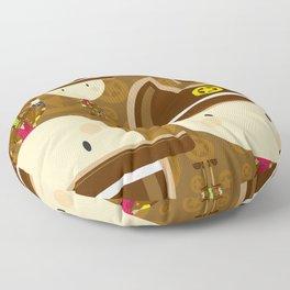 Cartoon Cowboy Sheriff Pattern Floor Pillow