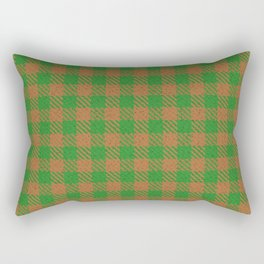 Abiquiú, Bourbon on Forest Green Ungulate Plaid Rectangular Pillow