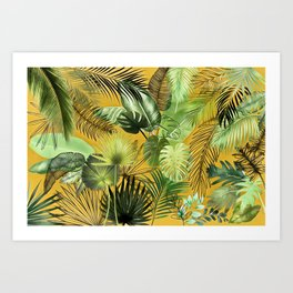 Tropical Foliage 06 Art Print
