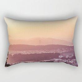 Evening San Francisco Hills Rectangular Pillow