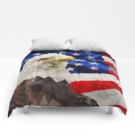 American Eagle and Flag Comforters