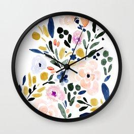 Sierra Floral Wall Clock
