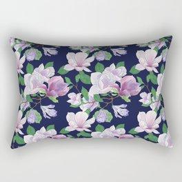 Magnolia Floral Frenzy Rectangular Pillow