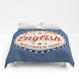 USA Official Language Comforters