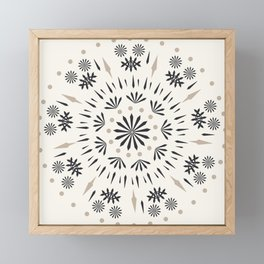 Snowflakes Scandic Nordic Framed Mini Art Print
